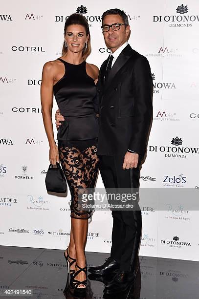 Martina Colombari and Alessandro Costacurta attend Alessandro Martorana's birthday party on January 29 2015 in Milan Italy
