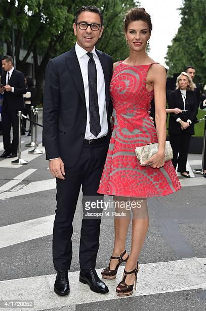 Martina Colombari and Alessandro Costacurta attend the Giorgio Armani 40th Anniversary Silos Opening And Cocktail Reception on April 30 2015 in Milan...