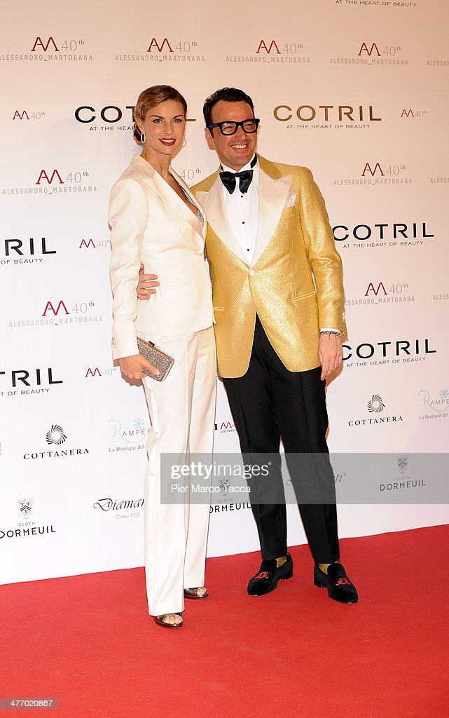 <a gi-track='captionPersonalityLinkClicked' href=/galleries/search?phrase=Martina+Colombari&family=editorial&specificpeople=2219414 ng-click='$event.stopPropagation()'>Martina Colombari</a> and Alessandro Martorana attend the Alessandro Martorana birthday party at Four Seasons Hotel on March 6, 2014 in Milan, Italy.