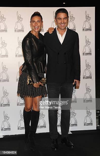 Martina Colombari and Billy Costacurta attend 'La Febbre del Sabato Sera' photocall at Teatro Nazionale on October 18 2012 in Milan Italy