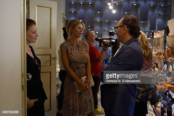 Martina Colombari and Enio Silla attend the Le Silla Spring/Summer 2015 Collection Presentation as part of Milan Fashion Week Womenswear...