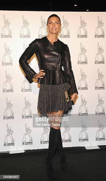 Martina Colombari attends 'La Febbre del Sabato Sera' photocall at Teatro Nazionale on October 18 2012 in Milan Italy