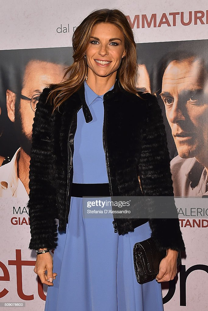 <a gi-track='captionPersonalityLinkClicked' href=/galleries/search?phrase=Martina+Colombari&family=editorial&specificpeople=2219414 ng-click='$event.stopPropagation()'>Martina Colombari</a> attends 'Perfetti Sconosciuti' Premiere held at Odeon Cinema on February 8, 2016 in Milan, Italy.