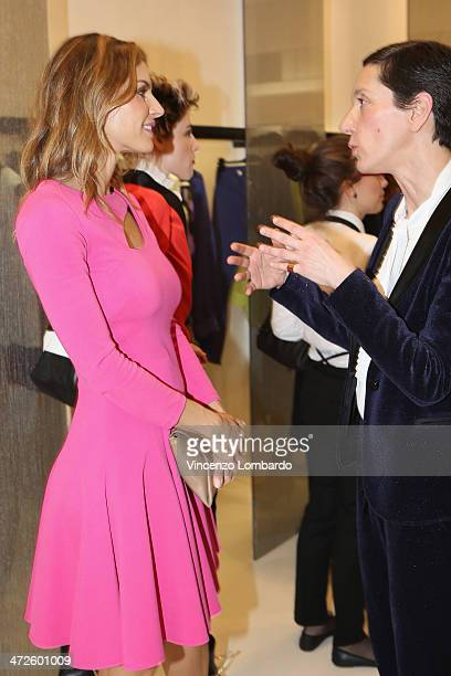 Martina Colombari attends the Atos Lombardini Boutique Opening as part of Milan Fashion Week Womenswear Autumn/Winter 2014 on February 21 2014 in...