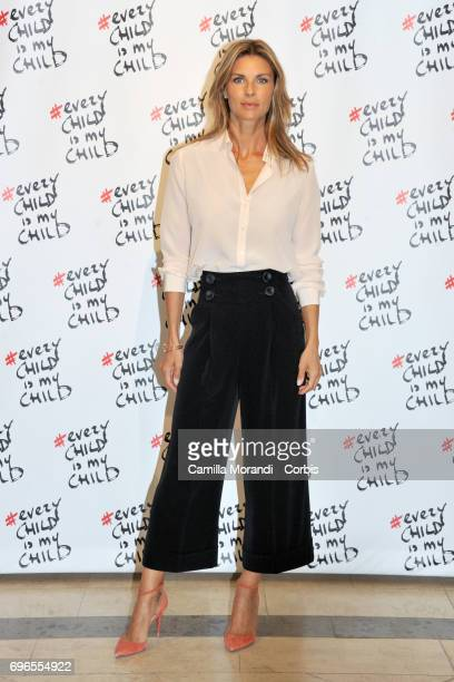 Martina Colombari attends the 'Every Child Is My Child' Presentation In Rome on June 16 2017 in Rome Italy