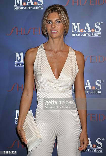Martina Colombari attends the opening night of 'Ghost The Musical' at the Teatro Nazionale on October 10 2013 in Milan Italy