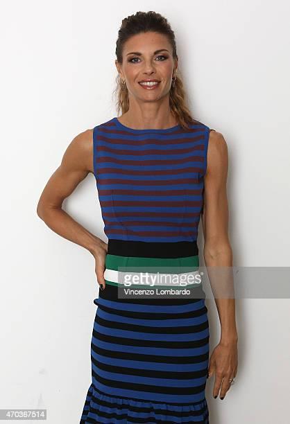 Martina Colombari attends the 'Quelli Che Il Calcio' Tv Show on April 19 2015 in Milan Italy