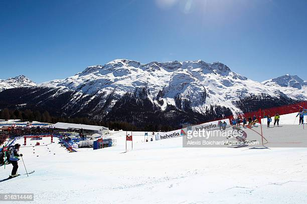 Martina Dubovska of the Czech Republic competes during the Audi FIS Alpine Ski World Cup Finals Men's and Women's Team Event on March 18 2016 in St...