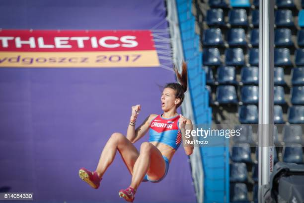 Martina Files from Croatia competes in women's pole vault qualification round during the IAAF World U20 Championships at the Zawisza Stadium on July...