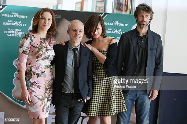 Martina Friederike Gedeck Daniele Lucchetti Micaela Ramazzotti and Kim Rossi Stuart attend the 'Anni Felici' photocall at Cinema Adriano on September...