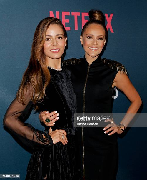 Martina Garcia and Cristina Umana attend the premiere of Netflix's 'Narcos' season 2 at ArcLight Cinemas on August 24 2016 in Hollywood California