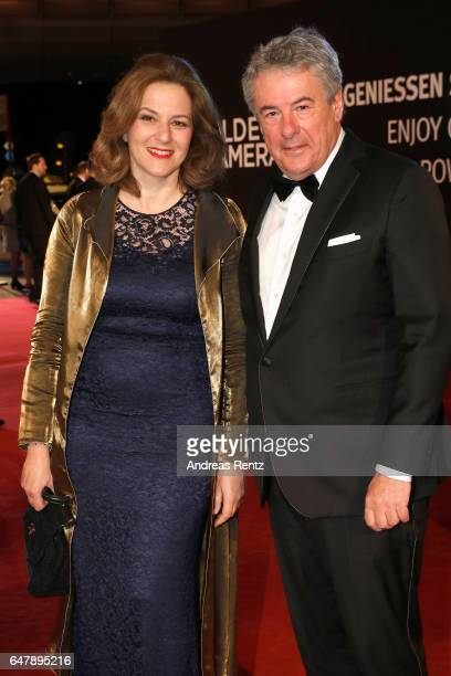 Martina Gedeck and her husband Markus Imboden arrive for the Goldene Kamera on March 4 2017 in Hamburg Germany