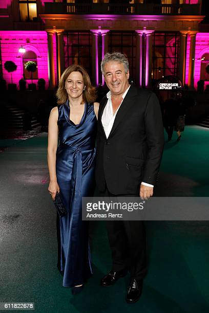 Martina Gedeck and her partner Markus Imboden attend the 'Gleissendes Glueck' premiere during the 12th Zurich Film Festival on October 1 2016 in...