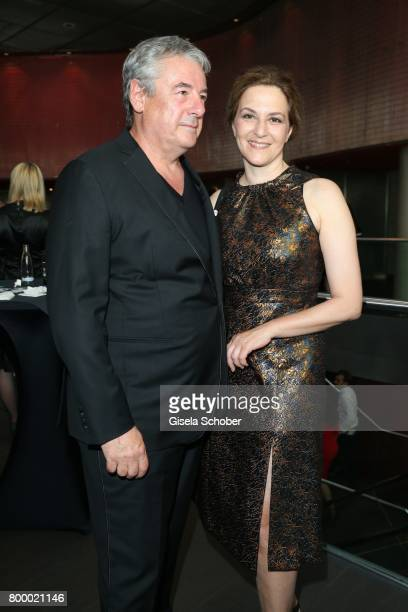 Martina Gedeck and her partner Markus Imboden during the opening night of the Munich Film Festival 2017 at Mathaeser Filmpalast on June 22 2017 in...