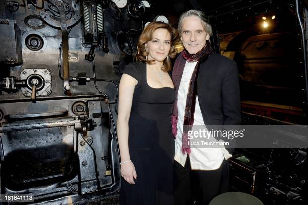 Martina Gedeck and Jeremy Irons attend the 'Night Train to Lisbon' after show party during the 63rd Berlinale International Film Festival at the...