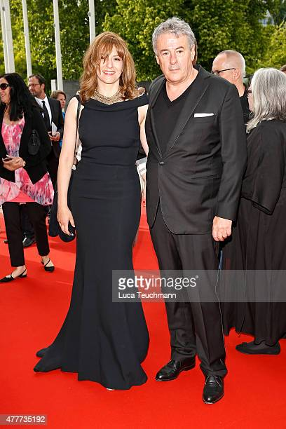 Martina Gedeck and Markus Imboden arrive for the German Film Award 2015 Lola at Messe Berlin on June 19 2015 in Berlin Germany