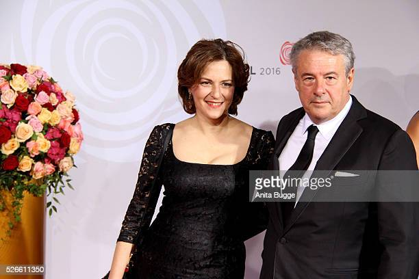 Martina Gedeck and Markus Imboden attend the charity event 'Rosenball' at Hotel Intercontinental on April 30 2016 in Berlin Germany