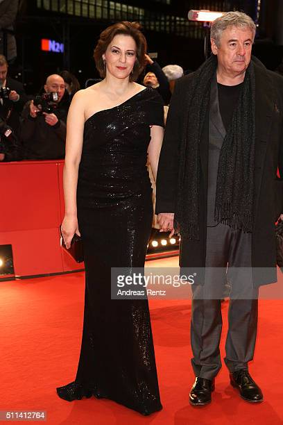 Martina Gedeck and Markus Imboden attend the closing ceremony of the 66th Berlinale International Film Festival on February 20 2016 in Berlin Germany