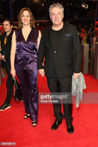 Martina Gedeck and Markus Imboden attend the 'Django' premiere during the 67th Berlinale International Film Festival Berlin at Berlinale Palace on...