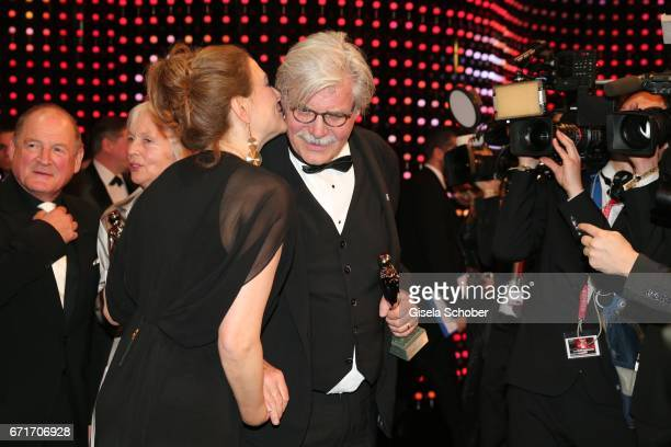 Martina Gedeck and Peter Simonischek during the ROMY award at Hofburg Vienna on April 22 2017 in Vienna Austria