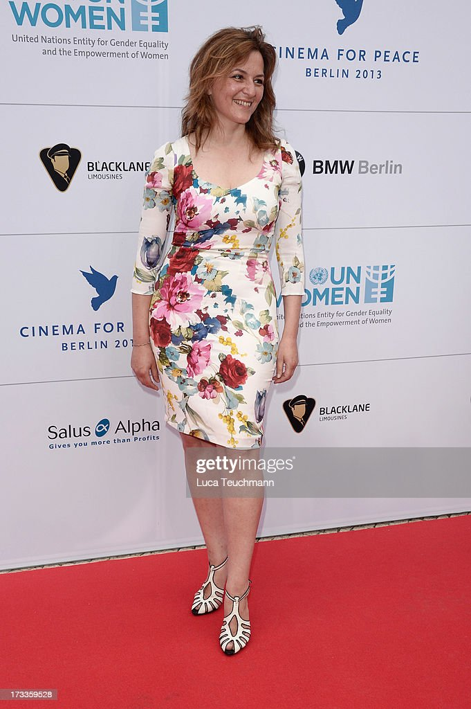 Martina Gedeck arrives for the Cinema for Peace UN women honorary dinner at Soho House on July 12, 2013 in Berlin, Germany.