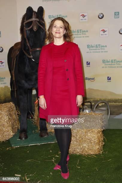 Martina Gedeck attends the German premiere of the film 'Bibi Tina Tohuwabohu Total' at Kino in der Kulturbrauerei on February 19 2017 in Berlin...