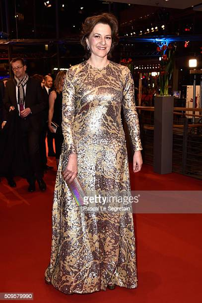 Martina Gedeck attends the 'Hail Caesar' premiere during the 66th Berlinale International Film Festival Berlin at Berlinale Palace on February 11...