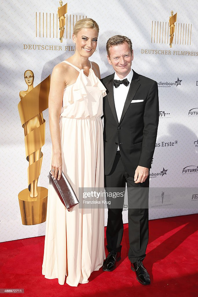 Martina Hill and Michael Kessler attend the Lola - German Film Award 2014 at Tempodrom on May 09, 2014 in Berlin, Germany.