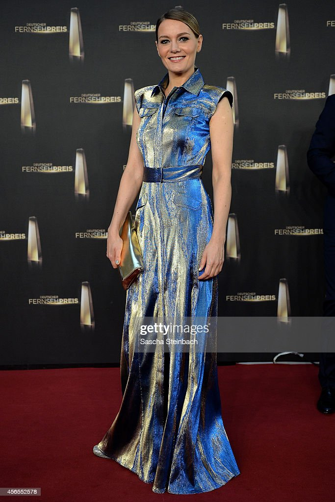 Martina Hill arrives at the 'Deutscher Fernsehpreis 2014' at Coloneum on October 2, 2014 in Cologne, Germany.