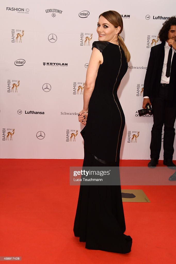 <a gi-track='captionPersonalityLinkClicked' href=/galleries/search?phrase=Martina+Hill&family=editorial&specificpeople=6056466 ng-click='$event.stopPropagation()'>Martina Hill</a> attends Kryolan at the Bambi Awards 2014 on November 13, 2014 in Berlin, Germany.