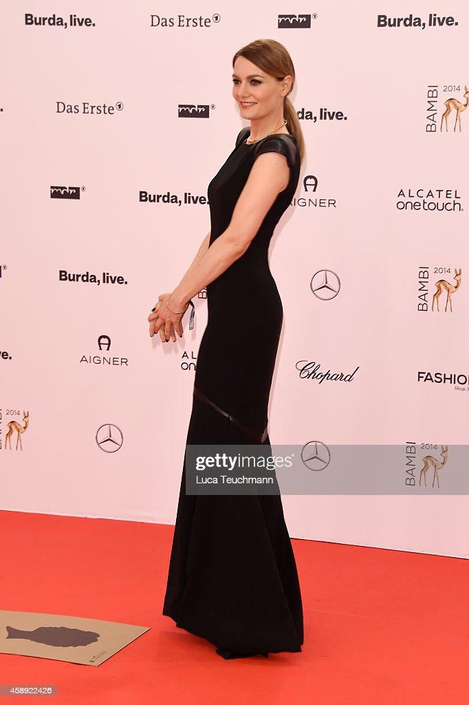 Martina Hill attends Kryolan at the Bambi Awards 2014 on November 13, 2014 in Berlin, Germany.