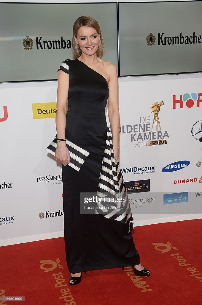 <a gi-track='captionPersonalityLinkClicked' href=/galleries/search?phrase=Martina+Hill&family=editorial&specificpeople=6056466 ng-click='$event.stopPropagation()'>Martina Hill</a> attends the 49th Golden Camera Awards at Tempelhof Airport on February 1, 2014 in Berlin, Germany.