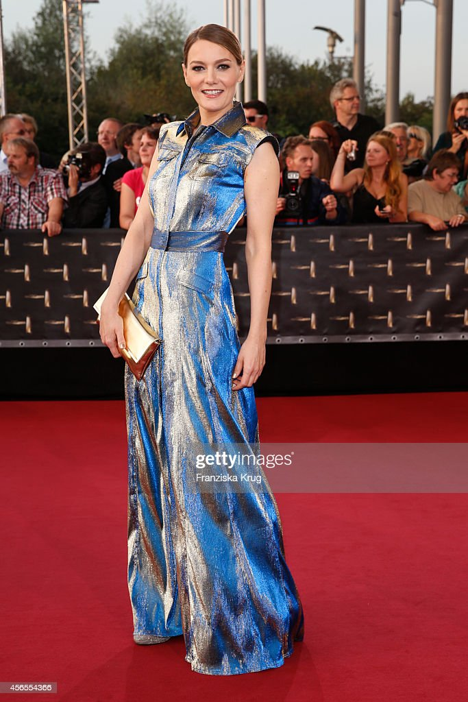 Martina Hill attends the red carpet of the Deutscher Fernsehpreis 2014 on October 02, 2014 in Cologne, Germany.