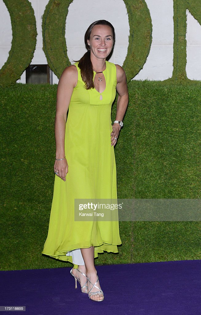 Martina Hingis arrives for the Wimbledon Champions Dinner held at the InterContinental Park Lane Hotel on July 7, 2013 in London, England.