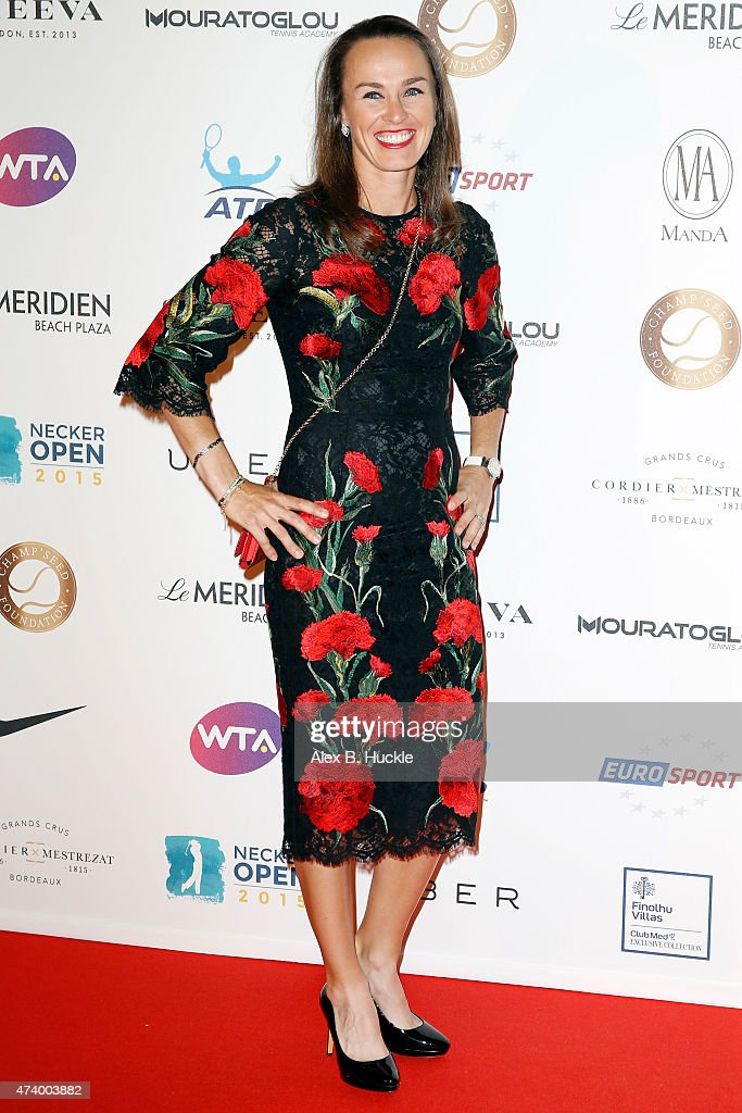 Martina Hingis attends the Champ'Seed party on May 19, 2015 in Monaco, Monaco.