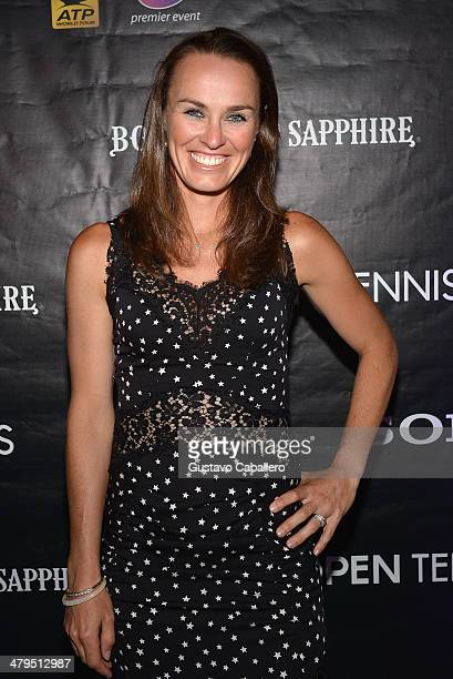 Martina Hingis attends the players party held at Cavalli Miami on March 18 2014 in Miami Beach Florida