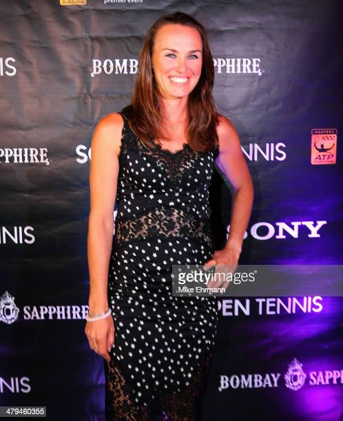Martina Hingis attends the players party held at Cavalli Restaurant and Lounge ahead of the 2014 Sony Open on March 18 2014 in Miami Beach Florida