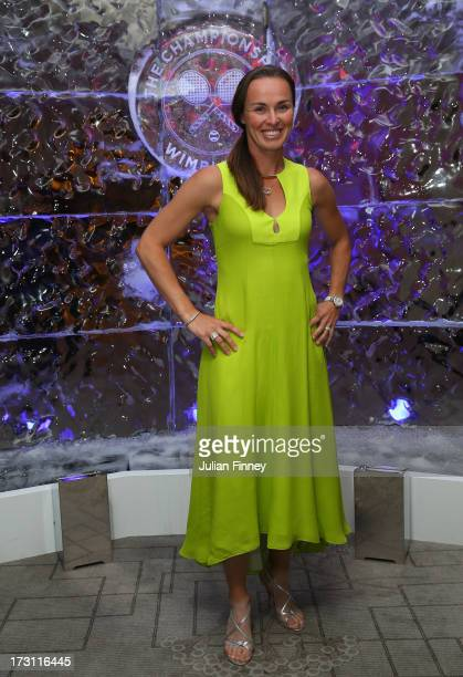 Martina Hingis attends the Wimbledon Championships 2013 Winners Ball at InterContinental Park Lane Hotel on July 7 2013 in London England