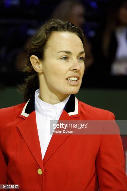 Martina Hingis competes in the Gucci Masters Competition at Paris Nord Villepinte on December 10 2009 in Paris France