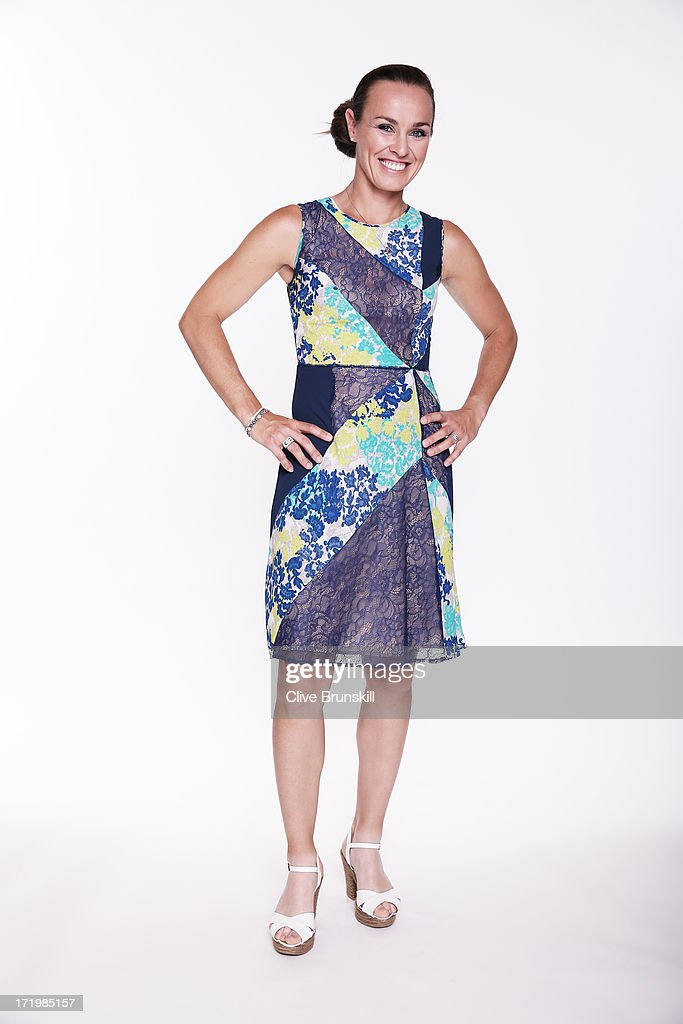 This image has been retouched) Martina Hingis poses for an exclusive photoshoot during the WTA 40 Love Celebration on Middle Sunday of the Wimbledon Lawn Tennis Championships at the All England Lawn Tennis and Croquet Club at Wimbledon on June 30, 2013 in London, England.