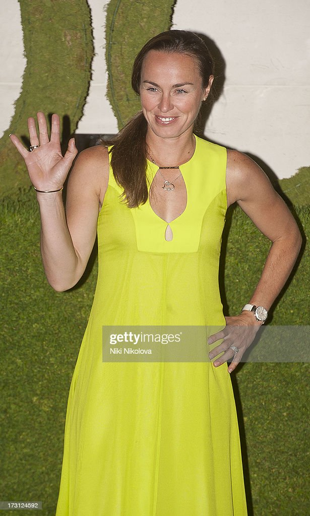 Martina Hingis sighting at the InterContinental Park Lane Hotel on July 7, 2013 in London, England.
