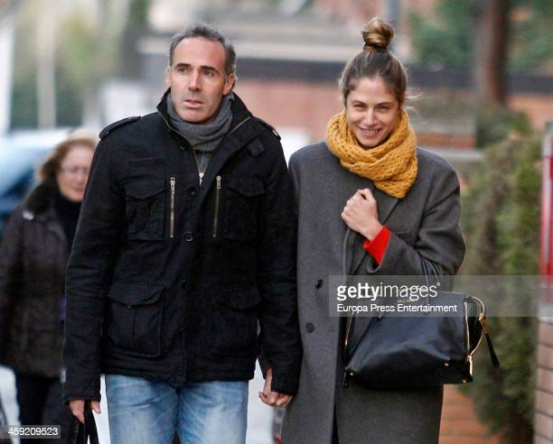 Martina Klein and Alex Correjta are seen on December 06 2013 in Barcelona Spain