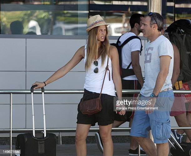 Martina Klein and Alex Corretja are seen on July 19 2012 in Ibiza Spain