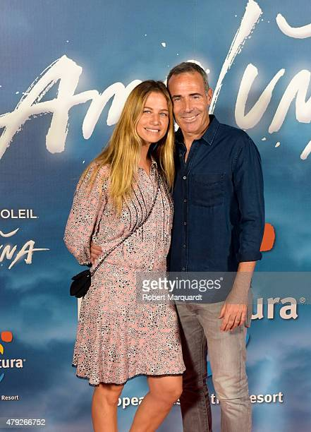 Martina Klein and Alex Corretja pose during a photocall for the premiere of 'Amaluna' show by Cirque Du Soleil at Portaventura theme park on July 2...