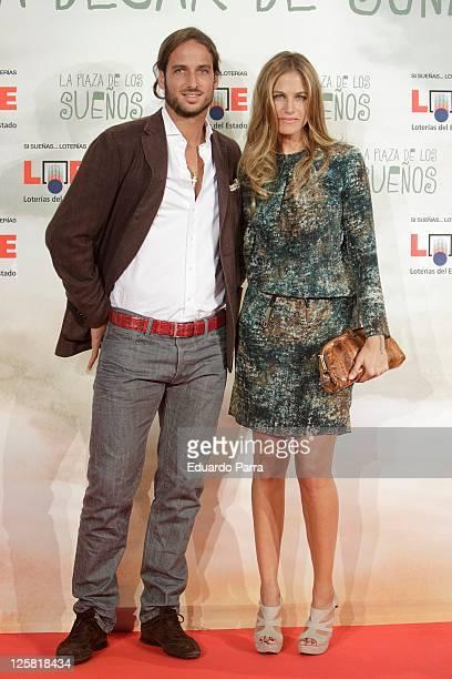 Martina Klein and Feliciano Lopez attend 'La plaza de los suenos' photocall at Callao square on September 21 2011 in Madrid Spain