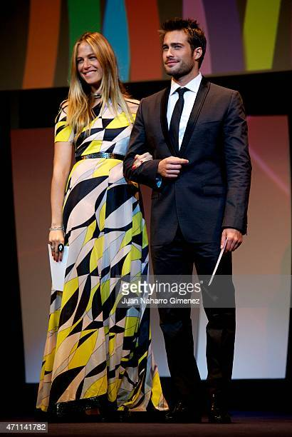 Martina Klein and Rodrigo Guirao attend the 18th Malaga Spanish Film Festival ceremony at the Cervantes Theater on April 25 2015 in Malaga Spain