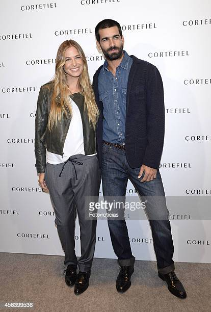 Martina Klein and Ruben Cortada present the new Cortefiel autumnwinter campaign at Cortefiel Store Puerta del Sol on September 30 2014 in Madrid Spain