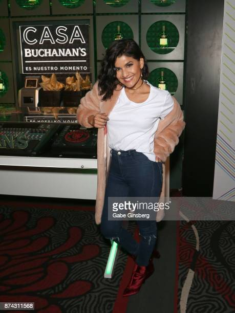 Martina La Peligrosa attends the gift lounge during the 18th annual Latin Grammy Awards at MGM Grand Garden Arena on November 14 2017 in Las Vegas...
