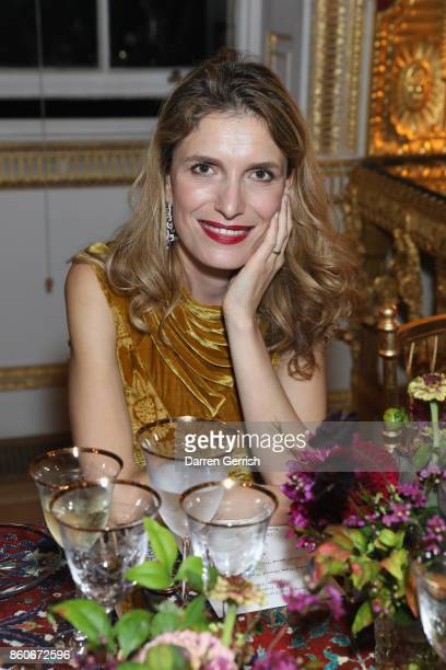 Martina Mandadori attends Giampiero Bodino's 'Beauty Is My Favourite Colour' cocktails and dinner evening at Spencer House on October 11 2017 in...