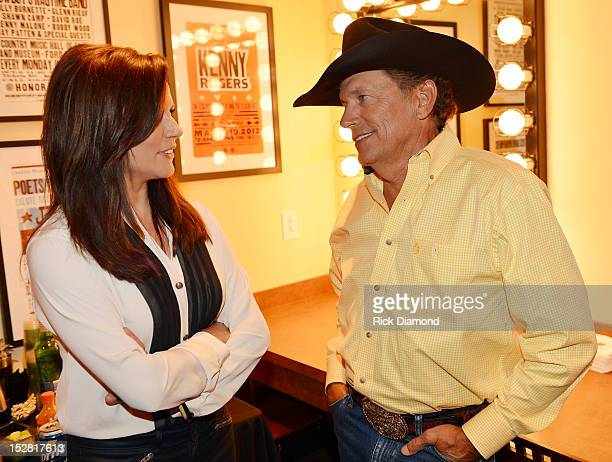 Martina McBride and George Strait during Country Superstar George Strait announces The Cowboy Rides Away 20122014 final tour on September 26 2012 at...